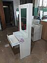 Узкий гримерный столик, высокое зеркало с подсветкой, белый, фото 3