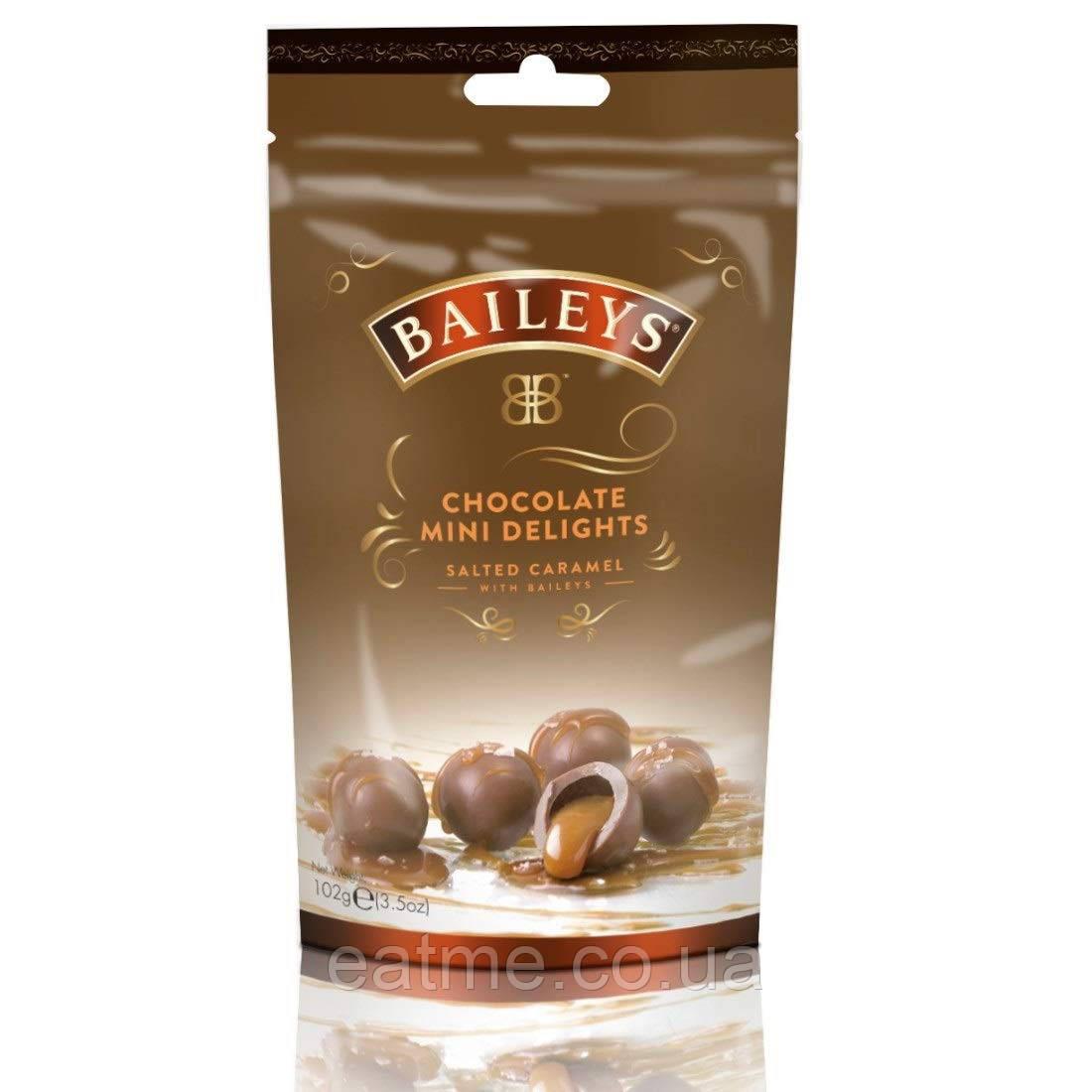 Конфеты из молочного шоколада с ликером Baileys и соленой карамелью