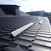 Металлочерепица Модерн 0,5мм глянцевый полиэстр US Steel Kosice Словакия, фото 10