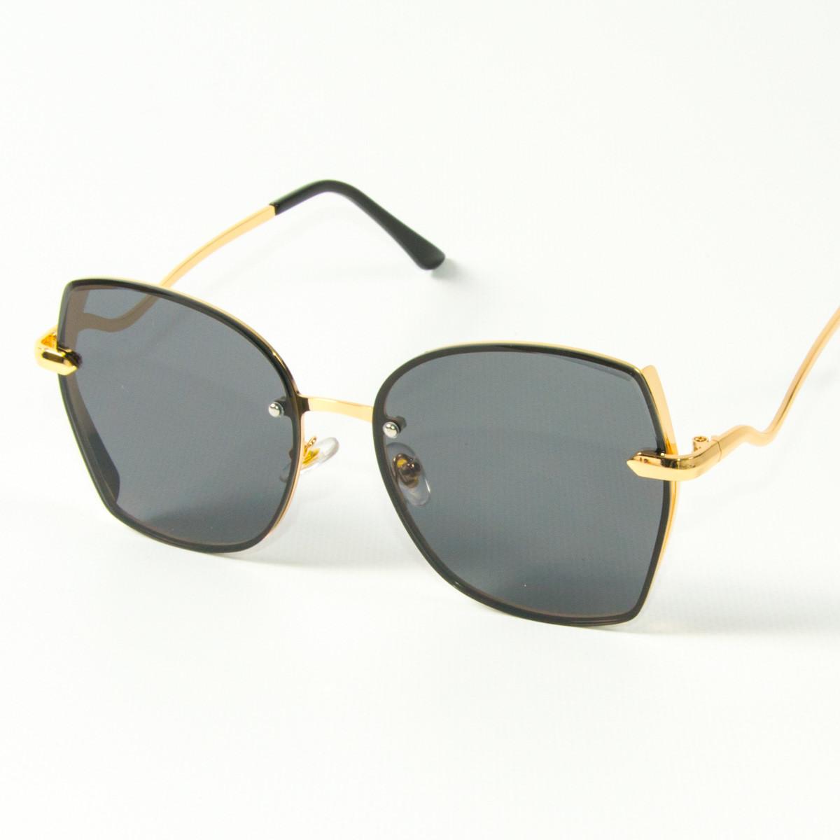 Оптом женские солнцезащитные квадратные очки  (арт. 2509/3) черные