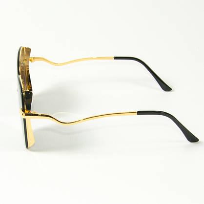 Оптом женские солнцезащитные квадратные очки  (арт. 2509/3) черные, фото 2