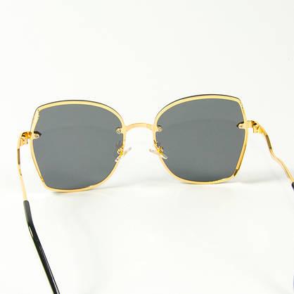 Оптом женские солнцезащитные квадратные очки  (арт. 2509/3) черные, фото 3
