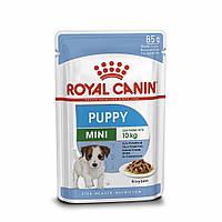 Влажный корм Royal Canin Mini Puppy для щенков мелких пород, кусочки в соусе 85гр*12шт