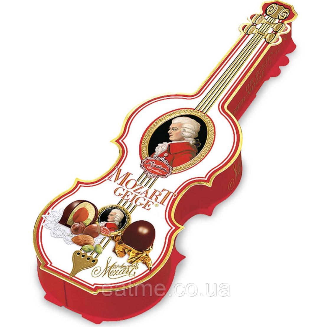 Reber Mozart Geige коробка конфет в виде скрипки с конфетами Моцарт
