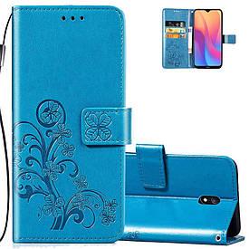 Чехол Clover для Xiaomi Redmi 8A книжка кожа PU голубой