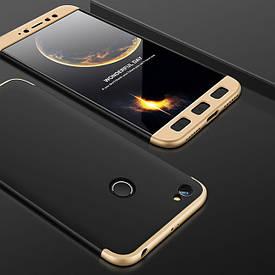 Чехол GKK 360 для Xiaomi Redmi Note 5A Pro / Note 5A Prime 3/32 Бампер Black-Gold