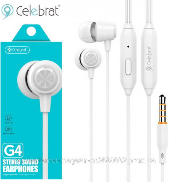 Наушники с микрофоном Celebrat G4 проводные
