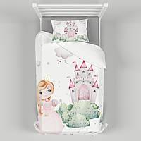 Детское постельное белье 110х140 см с авторским рисунком Принцессы