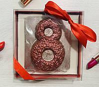 8-ка из роз. Шоколадная 8-ка из роз. Подарок на 8 Марта