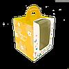 Коробка для кулича, пряничного домика 160х160х200 мм. Цветочки