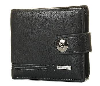 Мужской кошелек из кожзама черный (чоловічий гаманець) 1133844509
