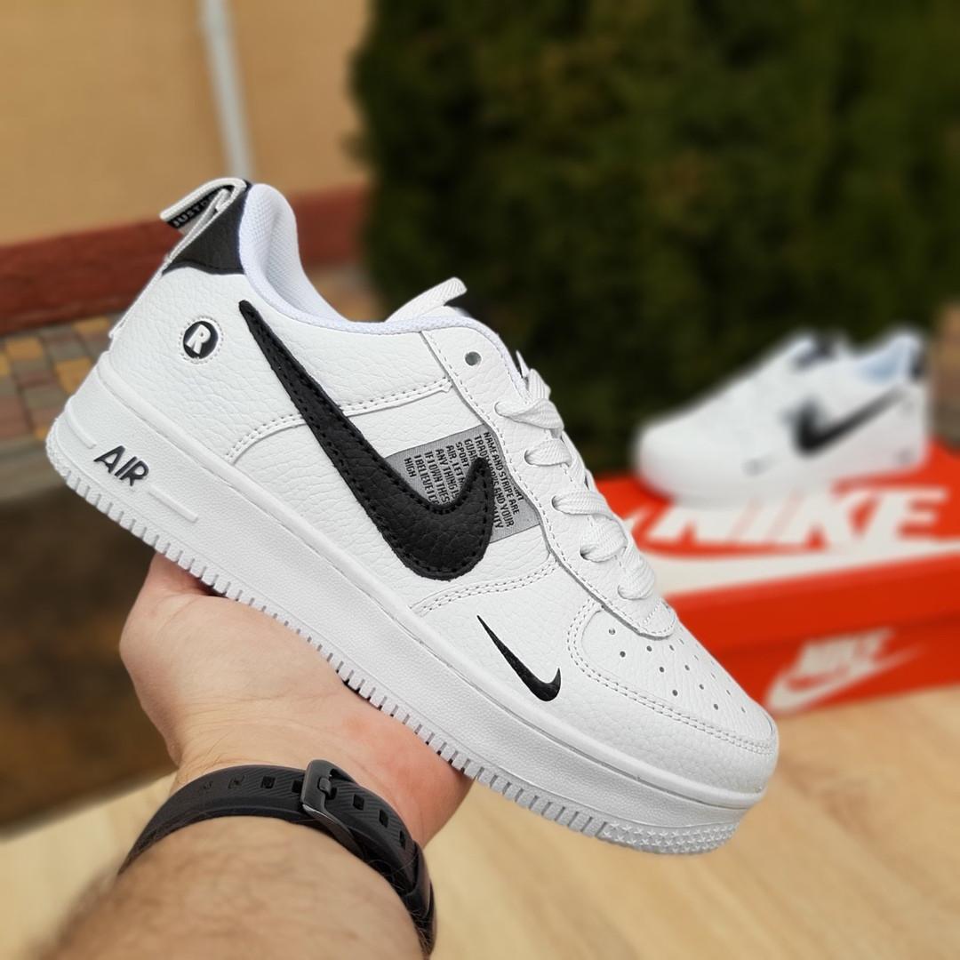 Чоловічі кросівки Nike Air Force 1 LV8 (біло-чорні) 10010