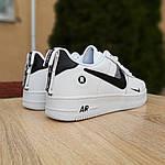 Чоловічі кросівки Nike Air Force 1 LV8 (біло-чорні) 10010, фото 5
