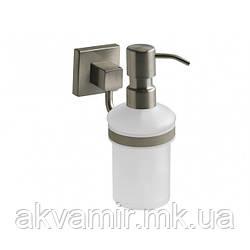 Дозатор для жидкого мыла NORD настенный Польша (нерж. сталь/стекло)
