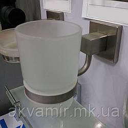 Стакан NORD настенный для зубных щеток Польша (нерж. сталь/стекло)