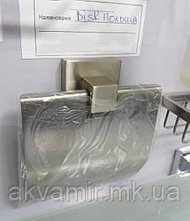 Держатель туалетной бумаги NORD с крышкой настенный Польша (нерж. сталь)
