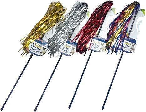 Игрушки для котов палочка-дразнилка цветная лапша, CROCI, 46 см
