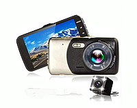 Видеорегистратор автомобильный DVR T652 Full HD 2 камеры Blackbox