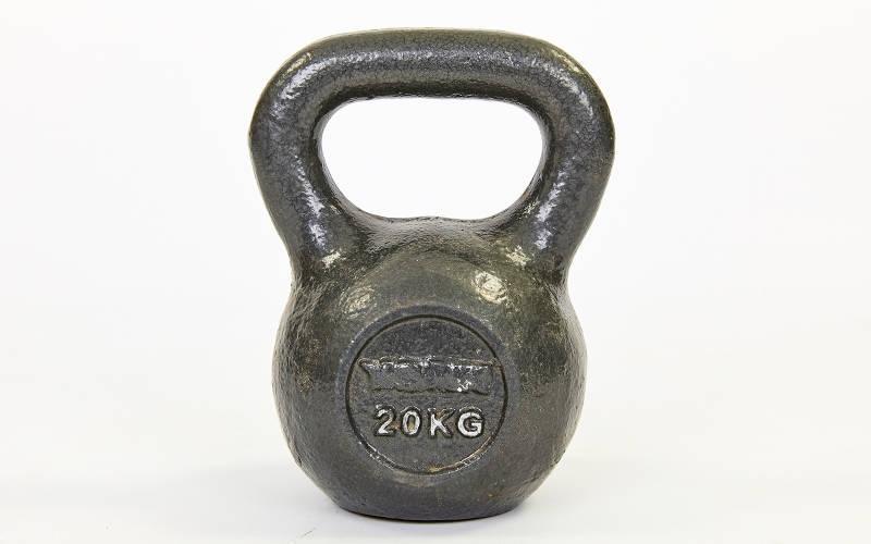 Гиря чугунная 20 кг  (черная)