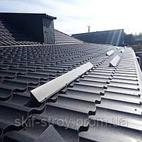 Металлочерепица Модерн 0,5мм  ThyssenKrupp  (Германия), MgZn130, покрытие - iceCrystal. Гарантия 30 лет!, фото 4