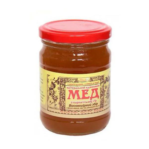 """Мед пчелиный натуральный, сорт: """"Высокогорный сбор"""" 350г"""