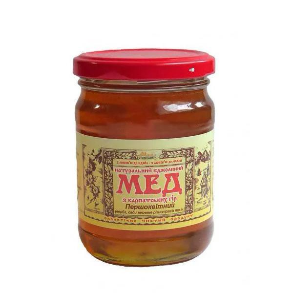 """Мед натуральный пчелиный, сорт: """"Первоцветный"""" 350 г"""