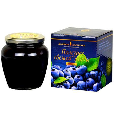 Черничная паста LiQberry 550 г.