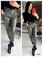 Женские штаны с эко кожи в расцветках АР-15-0220