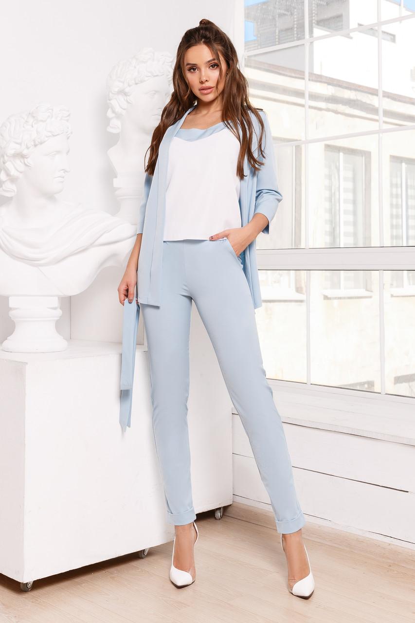 Женский костюм тройка Голубой