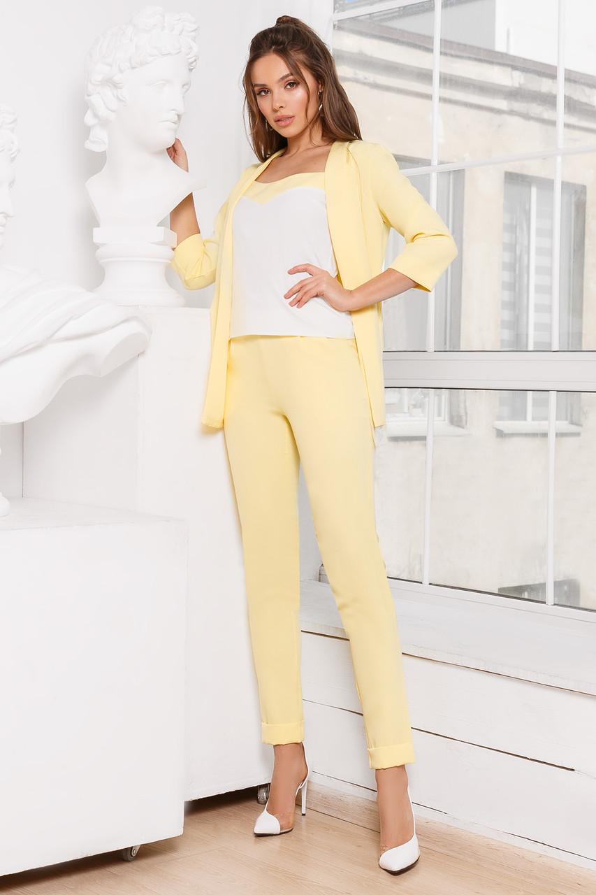 Женский костюм тройка Желтый