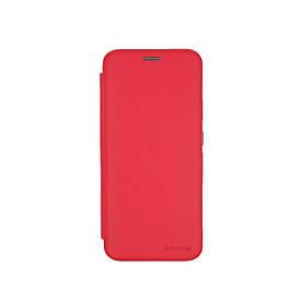 Чехол книжка для Samsung Galaxy A51 A515 боковой с отсеком для визиток, G-Case, Красный