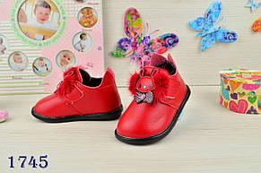 Ботинки-пинетки детские демисезонные  на девочку из  эко-кожи 17-20р., фото 2