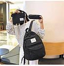 Рюкзак набор женский 3 в 1 ( клатч, пенал) чёрный. (AV237), фото 4