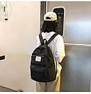 Рюкзак набор женский 3 в 1 ( клатч, пенал) чёрный. (AV237), фото 6