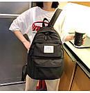Рюкзак набор женский 3 в 1 ( клатч, пенал) чёрный. (AV237), фото 5