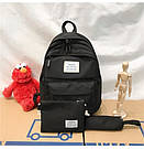 Рюкзак набор женский 3 в 1 ( клатч, пенал) чёрный. (AV237), фото 2