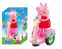 Свинка на батарейках Peppa Pig на мотоцикле