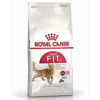 Сухой Корм Royal Canin Fit Для Взрослых Кошек От 1 Года Бывающих На Улице, 10 Кг