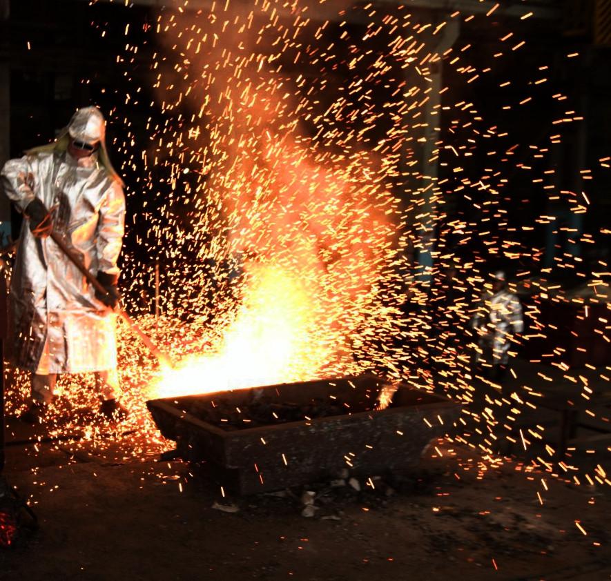 Крупногабаритное металлическое литье