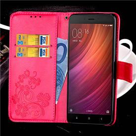 Чехол Clover для Xiaomi Redmi Note 4X / Note 4 Global книжка Pink женский