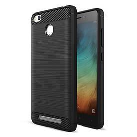 Чехол Carbon для Xiaomi Redmi 3s / Redmi 3 Pro бампер Black
