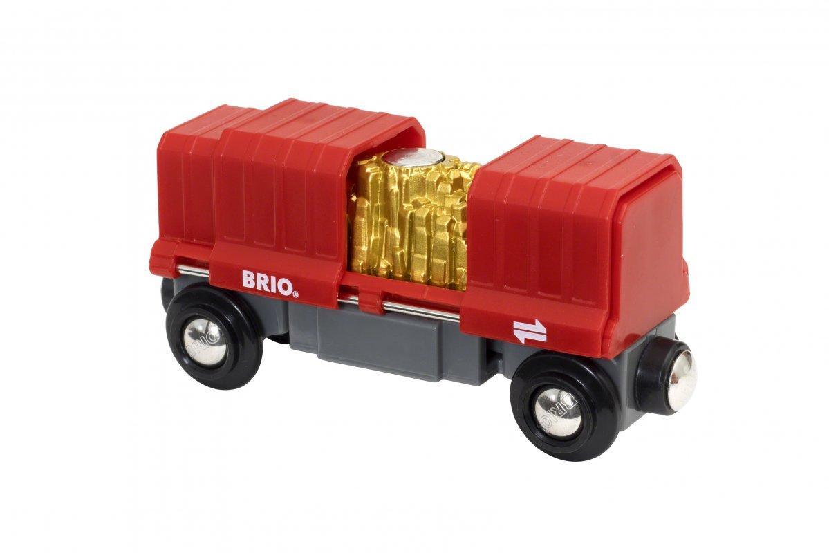 BRIO Грузовой вагончик с золотом 33938