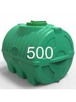 Емкость горизонтальная пластиковая объем 500 литров трехслойная.
