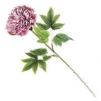 Искуственный цветок пион 69 см  Фиолетовый