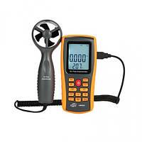 Анемометр-термометр USB 0,3-45м/с, 0-45°C BENETECH GM8902