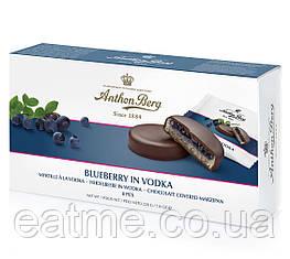 Anthon Berg марципановые Конфеты пропитаете водкой с черничным джемом в темном шоколаде