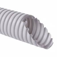 Труба гнучка з протяжкою 320 N, 1420 D K50D, D20мм, світло-сіра (бухта 50м), КОПОС
