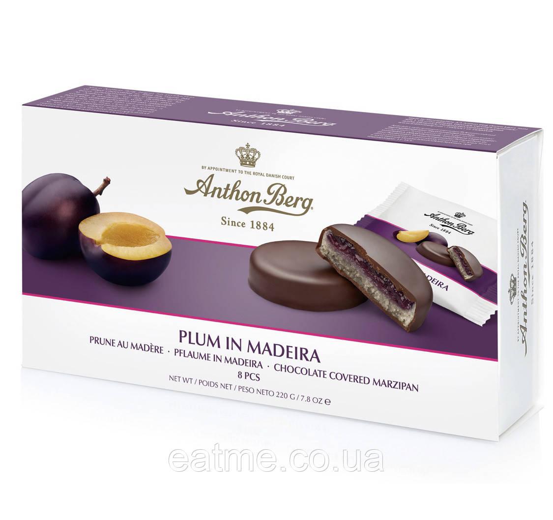 Anthon Berg марципановые Конфеты пропитаете вином со сливовым джемом в темном шоколаде
