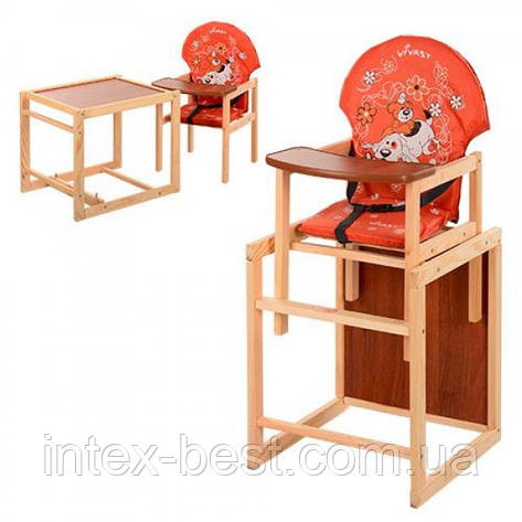 Детский деревянный стульчик для кормления M V-010-27-6, фото 2