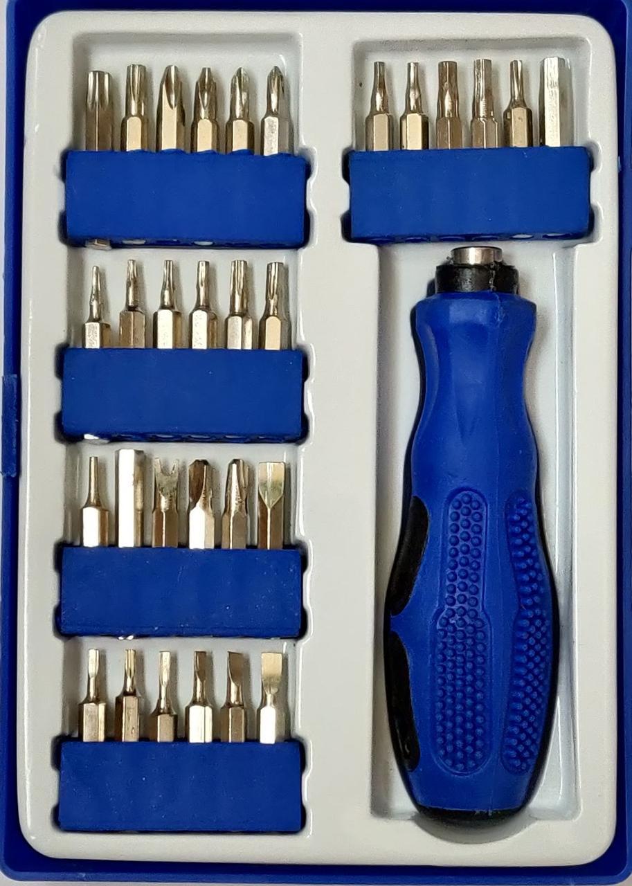 Набор бит Student tools kit (30 piece) для работы с разными типами креплений. Отвертка-ручка Student tools kit
